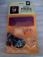 Instant PIRATE ACCESSORY SET- Patch, Earring, Bandana, Denture~New in Package
