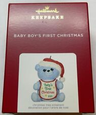 Hallmark 2021 Baby Boy's First Christmas Blue Bear Ornament New with Box