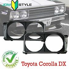 1~Pairs HeadLight Lamp Surround Housing Trim Cover For Corolla KE70 TE71 TE72 DX