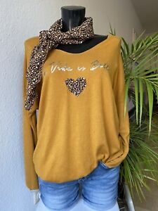 **ITALY** Collection- Pullover- Curry -Leo Print- Onesies 38 40 42 44 **NEU**