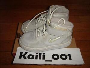 Nike BABY Air Force 1 MID SJ SC (TD) Size 8c Zen Grey Jewel 650085-011 B