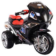 Motorbike Kids Ride On Motorcycle Toy Electric Scooter Car Bike 6V Battery Black