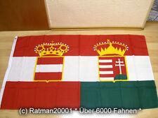 Fahnen Flagge Österreich Ungarn Handelsflagge - 90 x 150 cm