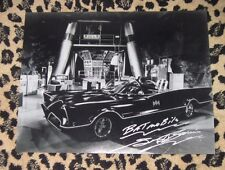 Rare GEORGE BARRIS signed 11x14 photo autograph BATMOBILE Adam West super car