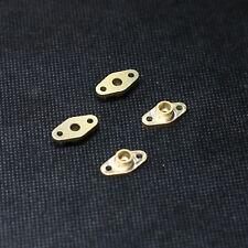 Ovalflansche 16mm für 4mm Rohr 10 Stück für Dampfmodellbau Messing