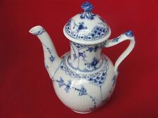ROYAL COPENHAGEN BLUE FLUTED 517 COFFEE POT