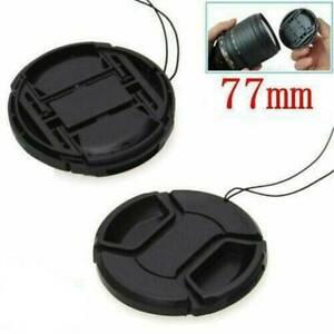 77mm Front Lens Cap Hood Cover Snap-on for Nikon Canon Tamron Tokina Sigma USA !