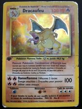 Carte Pokemon DRACAUFEU 4/102 Holo Set de Base Wizard EDITION 1 FR