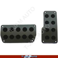 SAAS Genuine Pedal Pads - Charcoal with Rubber Inserts Auto Racing Non Slip NEW