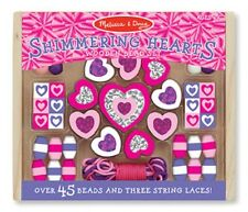 Melissa & Doug Shimmering Hearts Wooden Bead Set #9495 BRAND NEW