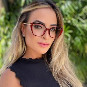 Cat Eye Optical Glasses Frames Fashion Blue Light Blocking Glasses Women UV400
