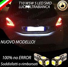 COPPIA LUCI TARGA 5 LED PER PEUGEOT 208 T10 W5W CANBUS 100% NO ERRORE
