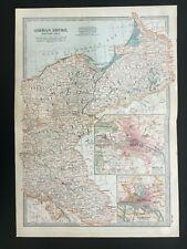 Antique Map Of Germany Berlin Hamburg East Prussia Breslau Konigsberg  1903