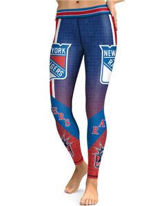 New York Rangers Leggings Small-XXL (0-14) Hockey Ice NY Fan Women Game Wear