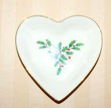 """Lenox Holiday Heart Dish Small 5"""" New No Box"""
