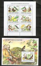 Comoros / 2008 Comoros Entomologist . Souvenir Sheet , Miniature Sheet . MNH