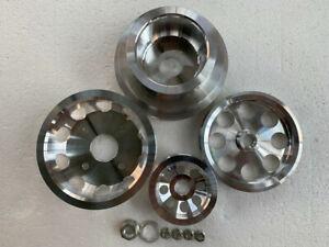 Underdrive Crank pulley set FOR Nissan S13 S14 S15 SR20 SR20DET 4pcs