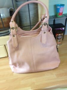 Pink PU Leather Shoulder Bag Handbag Shop Medium Multi Pockets