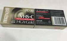 Maxell Tc 30 Vhs C Camcorder Videocassette 2 Tapes Hgx Gold Premium High Grade
