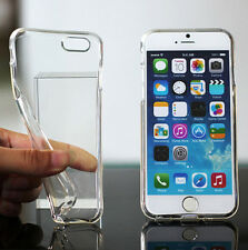 JT11 Clear TPU Soft Silicone Gel Crystal Case Cover Skin Fit iPhone 6 Plus 5.5""
