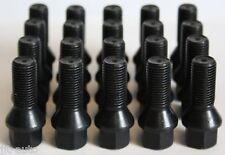 20 X M14 X 1.5 Negro Cónico Aleación Pernos De Rueda Ajuste Vw Eos Fox