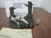 Star Wars Hawthorne Galactic Village Dagobah Swamp Lights Up Sculpture & Luke