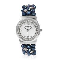 STRADA Japanese Movement Bracelet Watch with Sapphire Glass Crystal Beads Straps