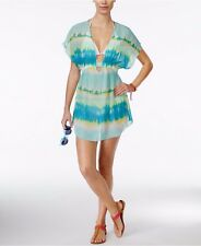 Miken Aqua Mermaid Tie Dye Smocked Swimsuit Cover Up XS NEW! NWT!