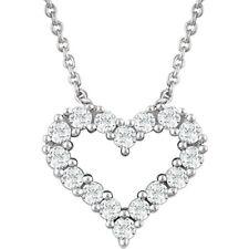 Corazón de diamante 45.7cm Collar en 14k ORO BLANCO ( 1/4 Ct. TW