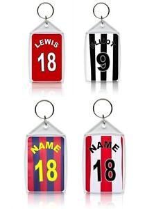 Personalised Football Shirt Keyring - Various Designs
