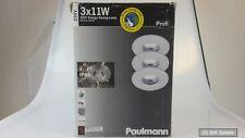 PAULMANN 994.63 ProfiLine Feuchtraum Alu Einbaulampen 3er Set weiß IP65 Neuw.