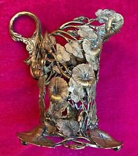 Art Nouveau Antique~Morning Lilies~Spectacular Silver plated Creamer Frame Only