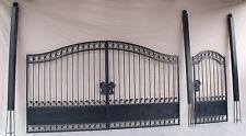 Doppelflügeltor Eisentor Schmiedeeisen Einfahrtstor Jugendstil Breite 4,7m