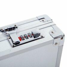 Gun Case Pistol Handgun Silver Color Hard Carry Box Aluminum Framed Lock Storage
