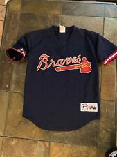 Vtg majestic Atlanta Braves Chipper Jones #10 Jersey Youth L