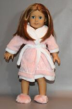 American Girl Doll Emily Robe and slippers (DOLL NOT INCLUDED)