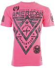 AMERICAN FIGHTER Men's T-Shirt ALASKA PATTERN Athletic PINK Biker MMA $40 For Sale