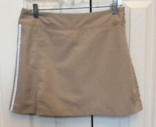 Women's Adidas Athletic Skort Clima Cool Beige And White Size 2 New