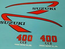 SUZUKI TS400 1975 TANK AND SIDE COVER DECAL GRAPHIC SET (#S27)
