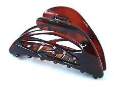 French Claw Clip Tortoise Shell Studded Swarovski Crystal Jaw Hair Claw Clip T4