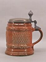 99848055 Keramik Reliefkrug Schilz Handarbeit H18,5cm Bierkrug Humpen Westerwald