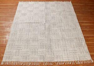 8x10 ft Kilim Area Rug Handmade Cotton Dhurrie Hand Block Printed Rug Throw Rugs