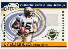 2001 Pacific Prism Atomic DREW BREES RC Authentic Game Worn Jersey Rare SP