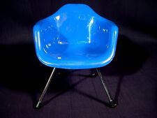 Miniature Sampler Eames DAW Chair Mid Century Modern Home Decor Royal Blue