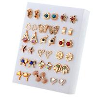 18Pairs Mixed Plastic Heart&Star Ear Stud Earrings Set For Women Girls Jewelry