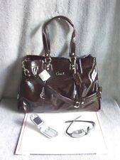 NWT COACH ASHLEY PATENT LEATHER CARRYALL SHOULDER TOTE BAG w/ BOX ~BRN~SAVE $130