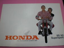 Prospekt Sales Brochure Honda SS 50 Supersport  und Supersport de Luxe