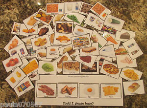 Food  PEC cards and boards, all colour cards x 64  flash cards & board £8.95 set
