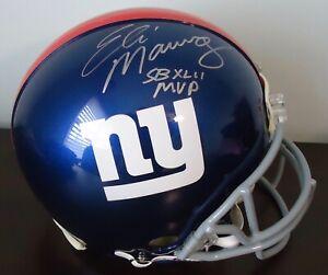 ELI MANNING Signed Autographed Full size New York Giants Helmet STEINER COA
