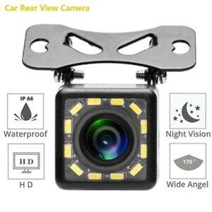 12LED HD Car Rear View Camera Reversing Parking Cam Night Vision Waterproof 170°